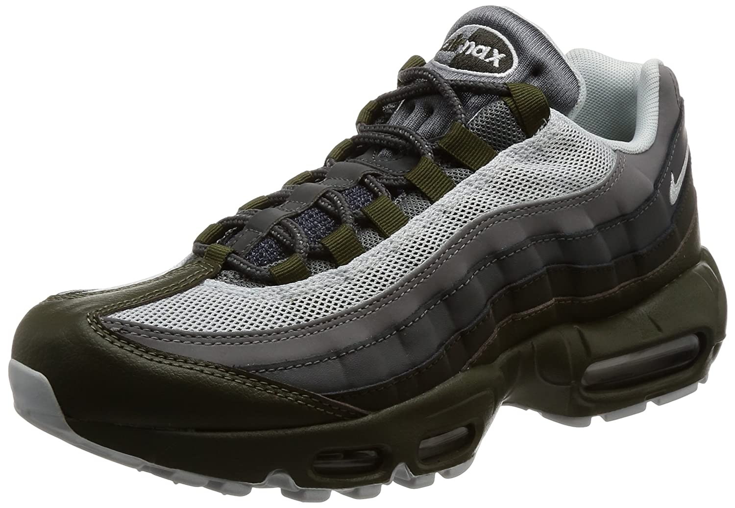 Cargo Khaki Pure Platinum Nike Air Max 95 No-Sew Men's shoes Grey