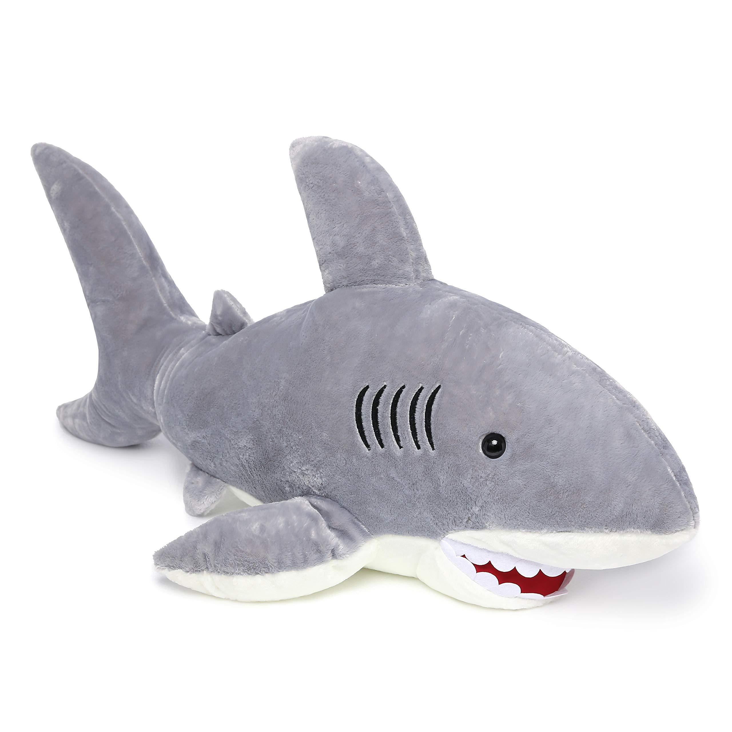 MorisMos Giant Shark Stuffed Animal,Gray Shark Plush Pillow,Plush Toy,Gift for Kids Girlfriend,51 Inches by MorisMos (Image #2)