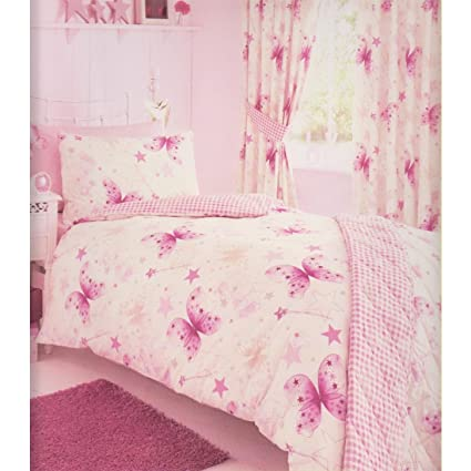 615ac1a5875 Kids Club Butterfly Single Duvet 1 Pillowcase Set Bedding Girl s Kid s  Bedlinen Quilt Cover