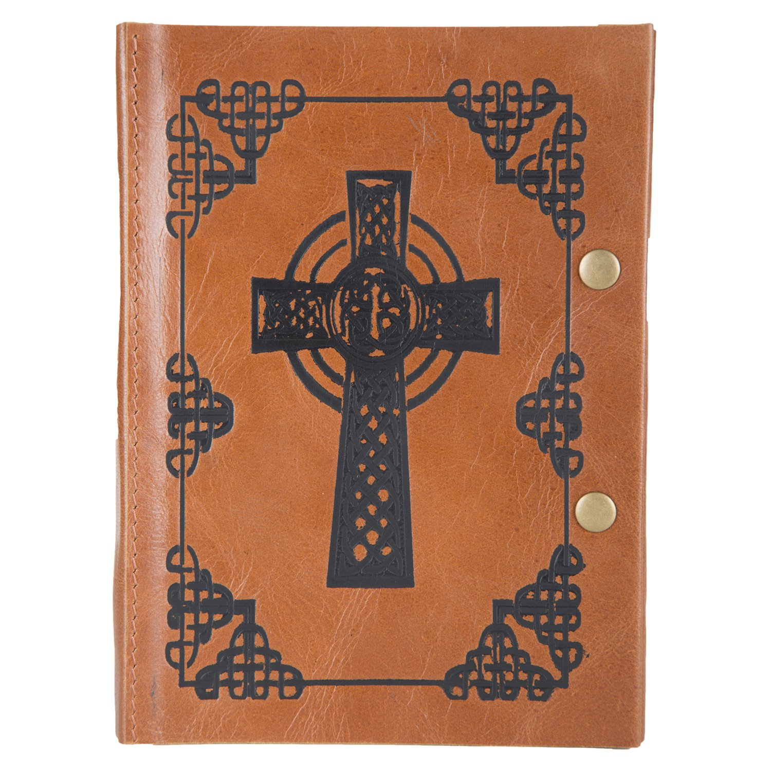 Leather Journal by Enew Leather Writing Cross Journal Notebook, Vintage Leather Handmade Diary Blank Unruled Pages Daily Notepad Travel to Write,