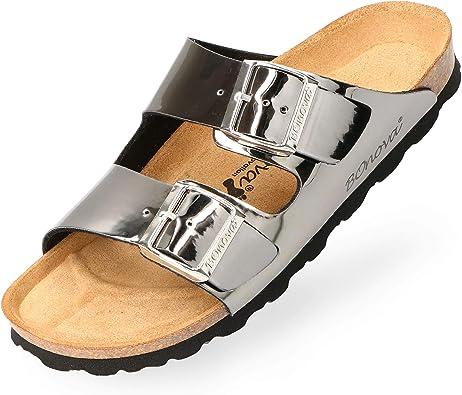 BOnova® Schwanberg Damen Sandalen Bequeme Pantoletten in 9
