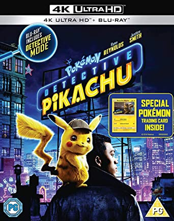 Amazon Com Detective Pikachu Pokemon 4k Uhd Blu Ray Ryan