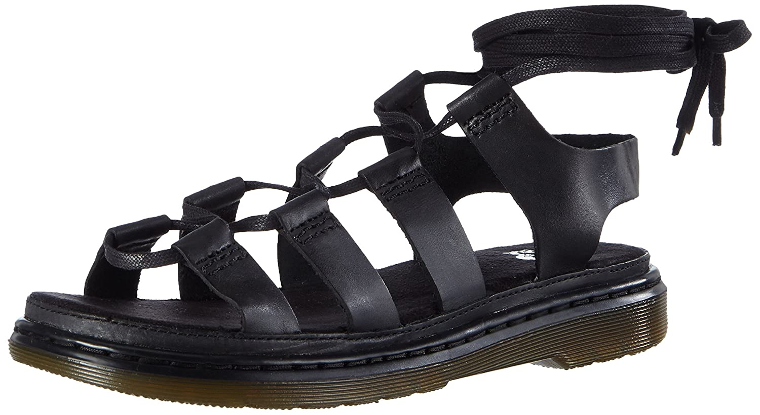 1cd11a0cdb3 Dr. Martens Women s Kristina Oily Illusion Black Roman Sandals Black ...