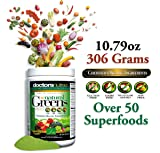 Natural Greens Juice Drink SuperFood (306g)(Pack of 2) with Certified Organic Ingredients. 50+ First Quality Gluten Free Vegetarian Plant-Based Superfoods + Probiotics, Enzymes Amazing Tropical Flavor