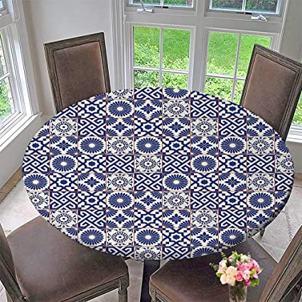 Tremendous Amazon Com Round Fitted Tablecloth Mstylish Old Ottoman Unemploymentrelief Wooden Chair Designs For Living Room Unemploymentrelieforg