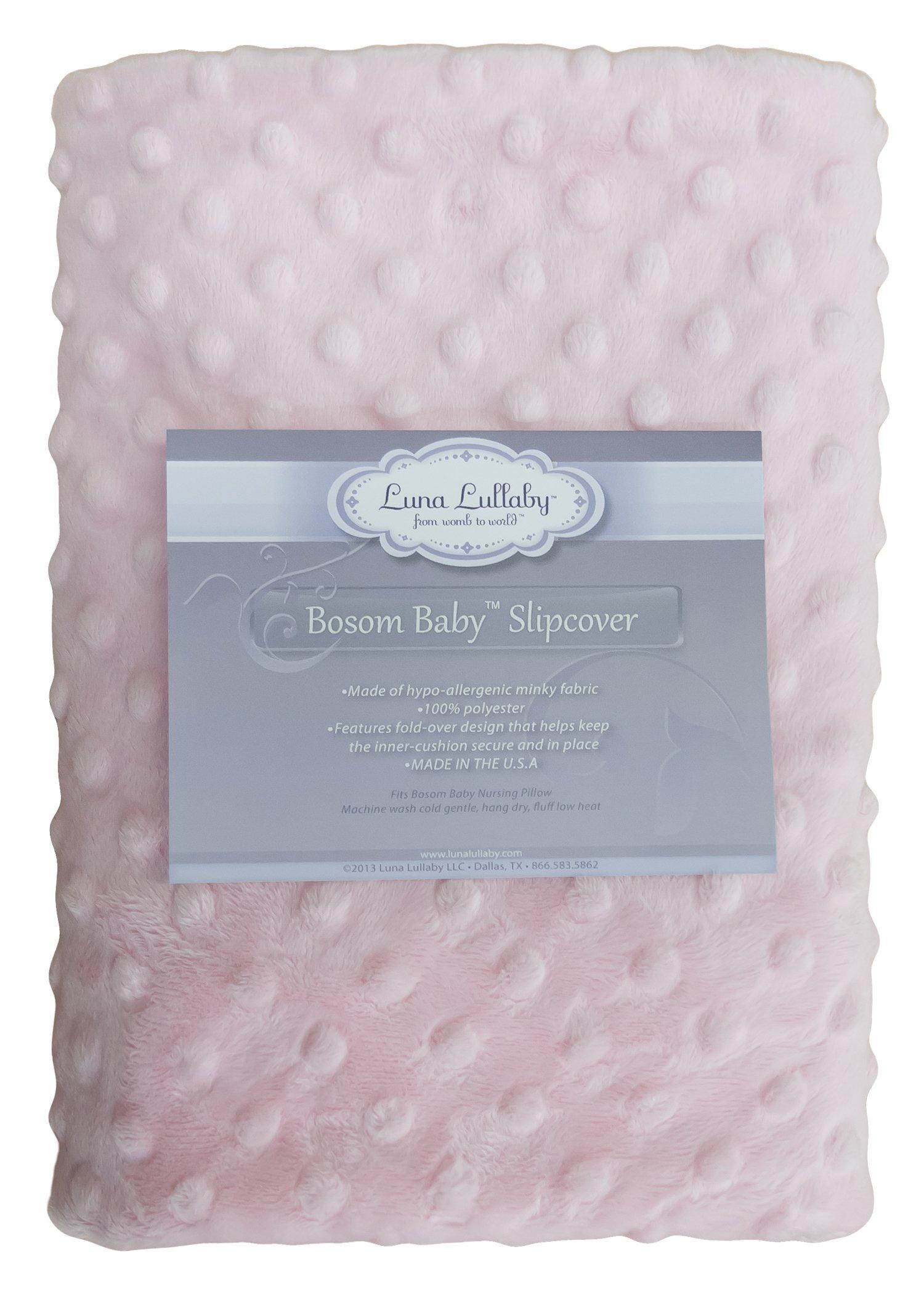 Luna Lullaby Bosom Baby Nursing Pillow Slip Cover, Pink Dot by Bosom Baby