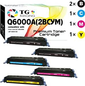 (Extra Black, 5-Pack) TG Imaging Compatible Q6000A Toner Cartridge for use in HP 124A (2B+1C+1Y+1M)