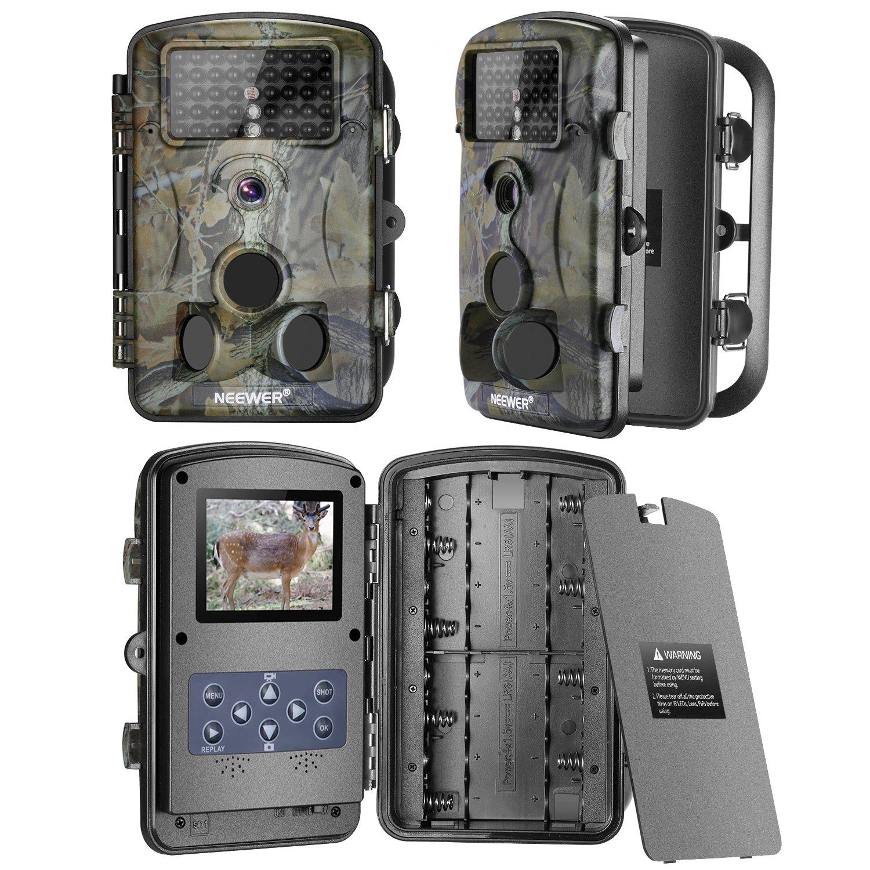 Neewer 1080P 12MP HD Infrarrojos Cámara Digital de Seguir/Cazar con Pantalla LCD de 2,4 pulgadas,Gran Angular de Visión Nocturna de 120 grado para Caza ...