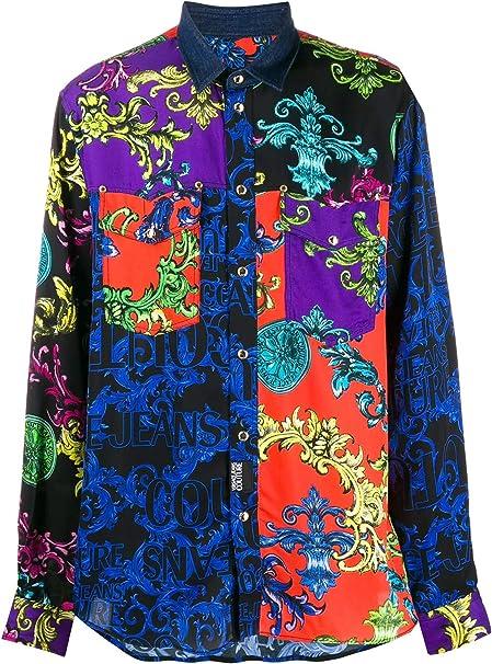 Versace Jeans - Camisa para Hombre, Color Morado Violeta 50 ...