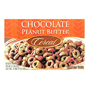 Healthwise - Chocolate Peanut Butter Protein Cereal   7/Box   High Protein, Low-Carb, Gluten Free, 1 gram of Sugar, Hunger Control , Appetite Suppressant , Diet and Post Workout Breakfast
