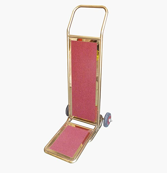 Fixture pantallas Hotel pulido acero inoxidable carro de equipaje rollos Motel maleta plegable Trolly 18001: Amazon.es: Oficina y papelería