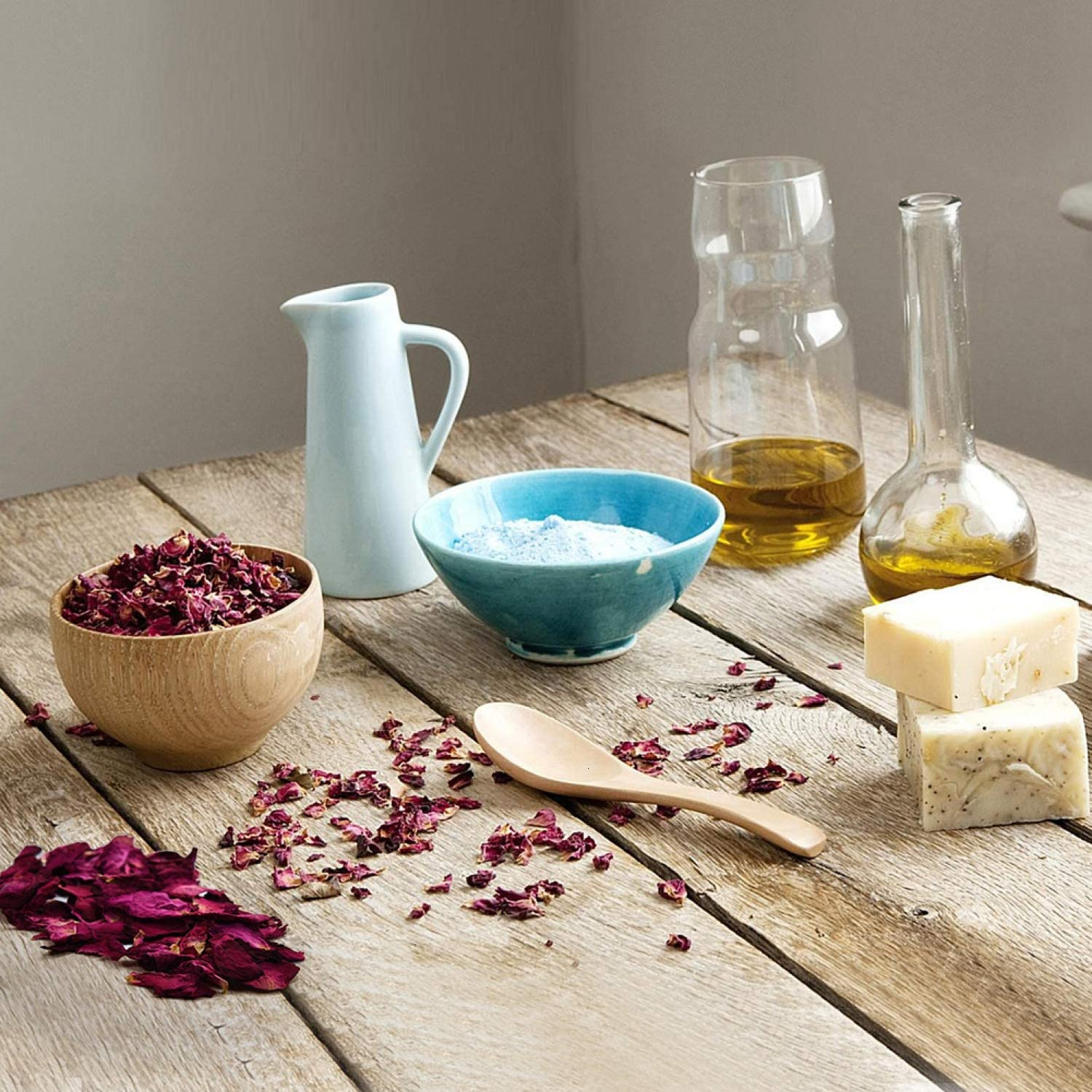 Soap Making Rose Petals Gomphrena Globosa and More YoleShy Dried Flowers 9Bag Include Dried Lavender Natural Dried Flower Herbs Kit for Bath Candle Making Jasmine Flower