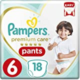 Pampers Premium Care Pants Diapers, Size 6, Extra Large, 16kg, 18 Count
