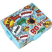 COM-FOUR® Boîte à lunch sur le chemin avec des motifs différents, boîte à lunch pour les enfants avec des murs de séparation