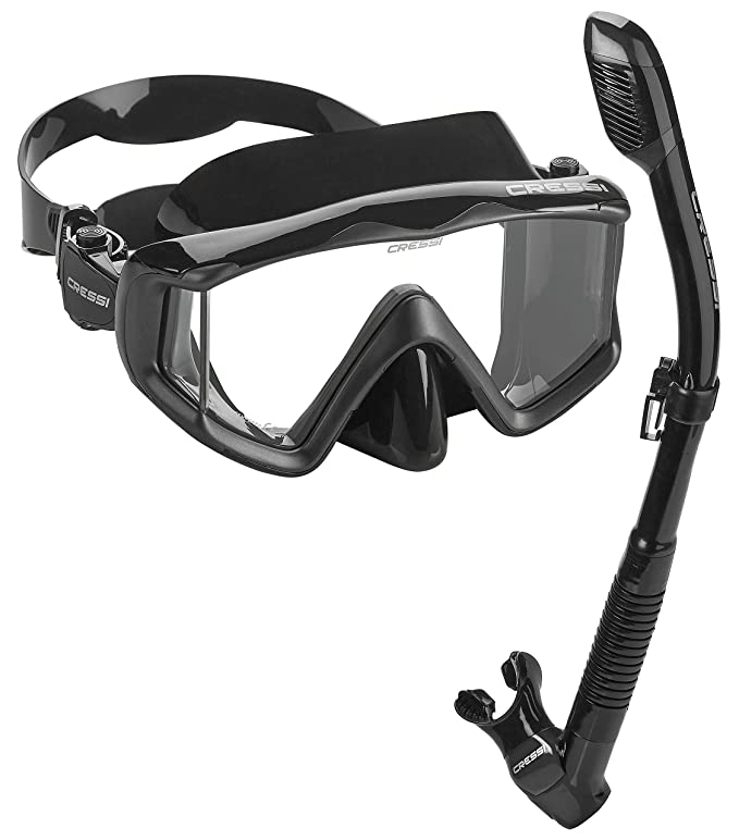 6. Cressi Panoramic View Dry Snorkel Set