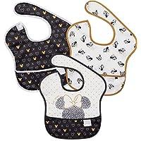Bumkins Disney SuperBib, Baby Bib, Waterproof, Washable, Stain & Odor Resistant, 6-24 Months, 3 Pack - Minnie Mouse