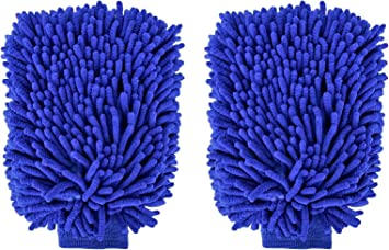 Microfiber Premium Scratch-Free Car Auto Wash Mitt 2pk