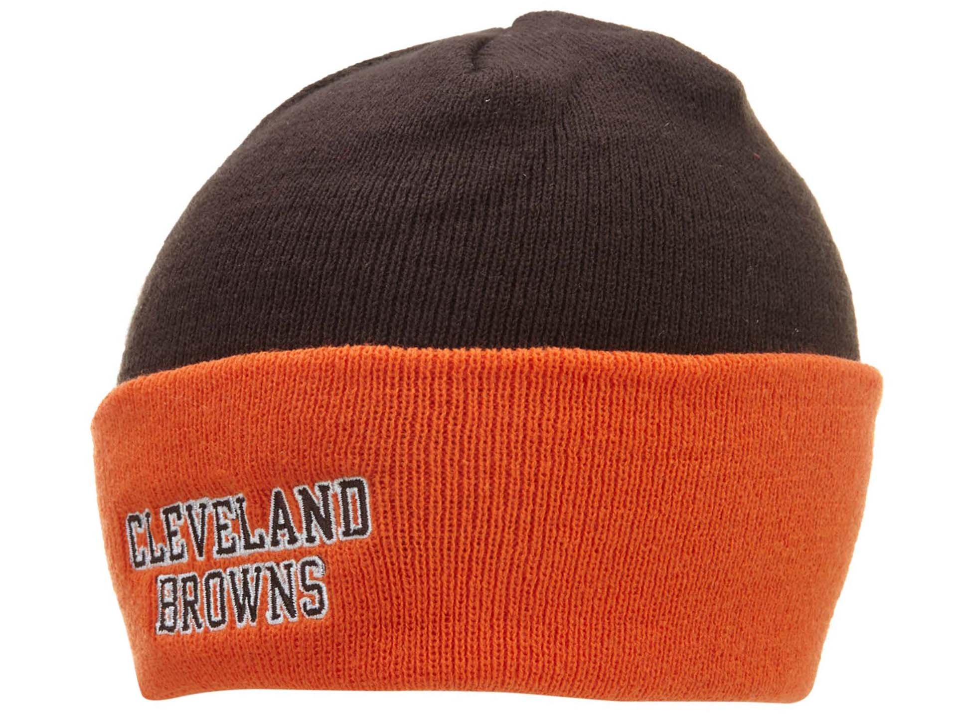 NFL End Zone Cuffed Knit Hat - K010Z, Cleveland Browns, One Size Fits All by Reebok (Image #1)