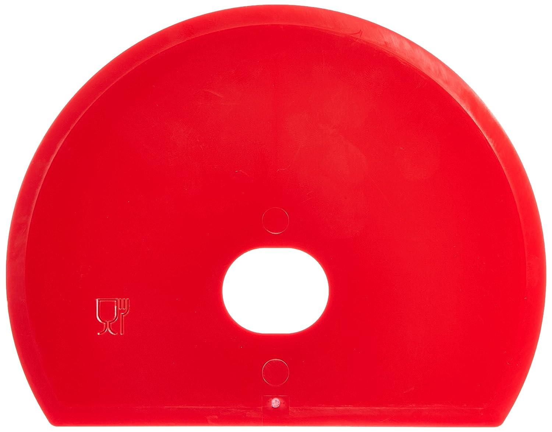 Rasqueta Flexible Rojo Maya 81915 160 x 125 x 1,65mm para Masa Redonda con Agujero