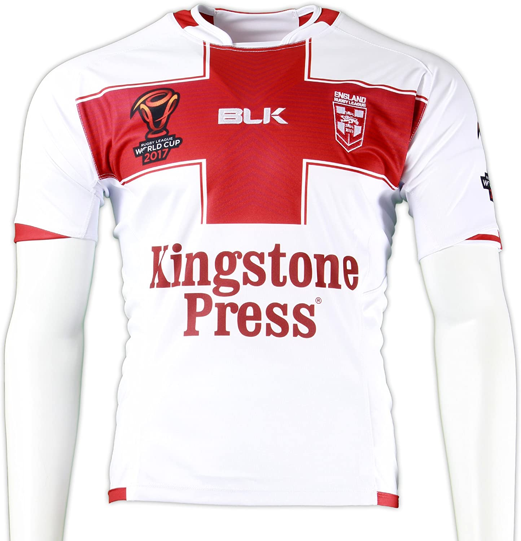Camiseta de rugby de Inglaterra, réplica de la Copa del Mundo de 2017, talla L, color blanco: Amazon.es: Deportes y aire libre