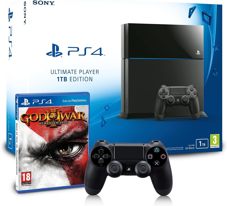 PlayStation 4 - Consola 1TB + God of War 3 - Remasterizado + Mando DualShock 4 Adicional: Amazon.es: Videojuegos