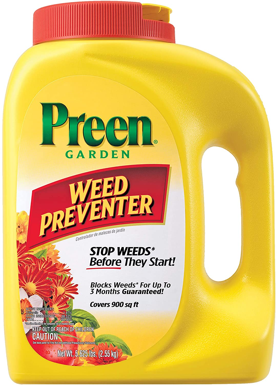 Preen 2464110 Garden Weed Preventer, 5.625 lb. Covers 900 sq. ft