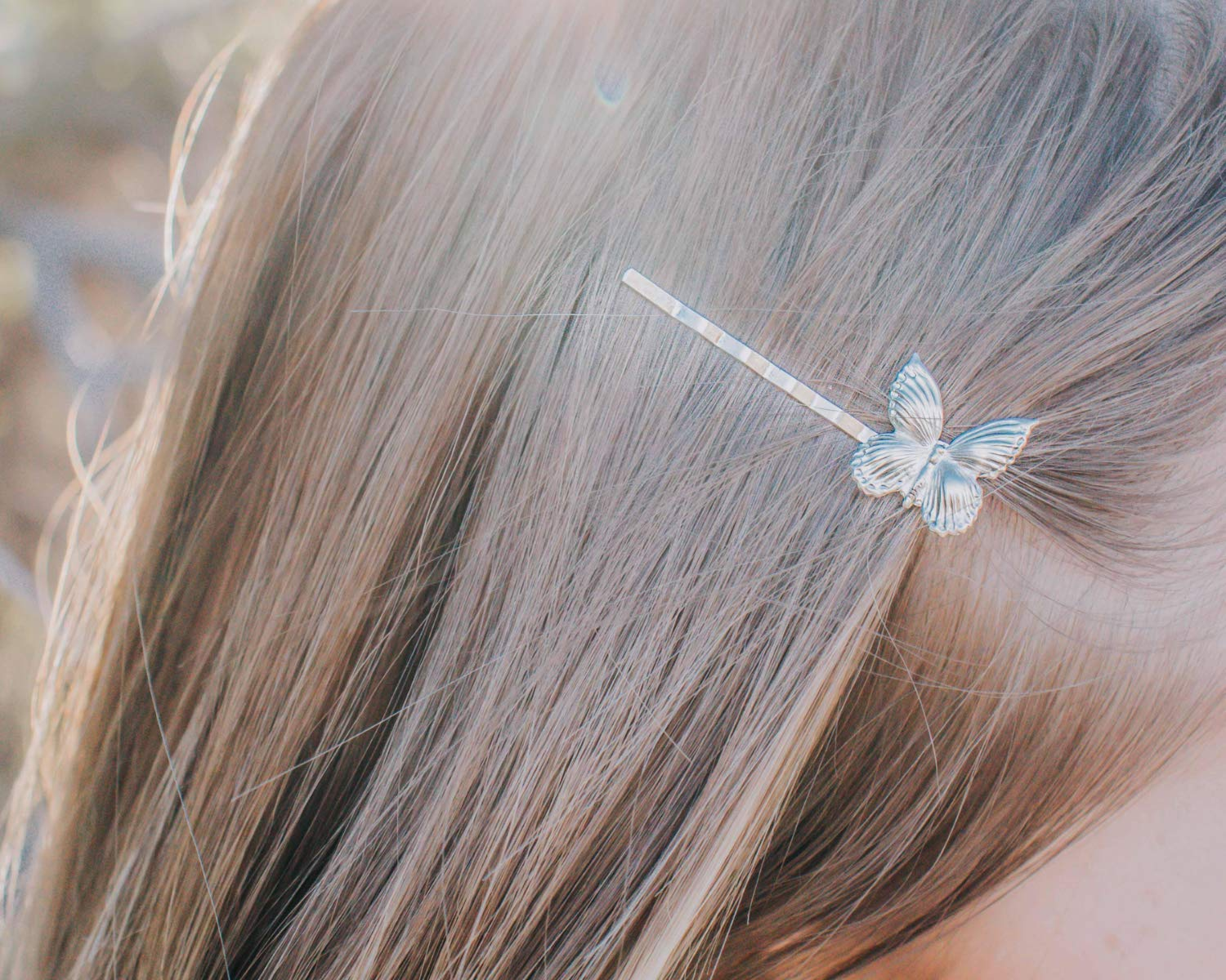 Butterfly Hair Accessories Butterfly Hair Clips Gold Metal Butterfly Hair Pins Gold or Silver Insect Hair Pins Set Of 2 Hair Pins