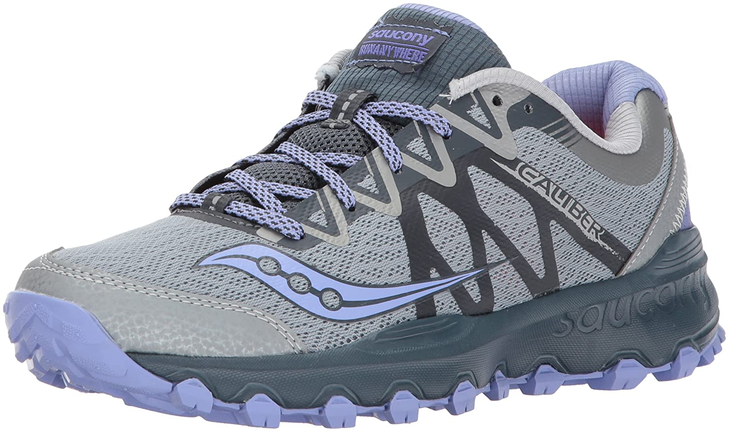 Saucony Women's Grid Caliber TR Trail Runner Shoe B01MQYS2CI 7 B(M) US|Grey Purple