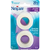 Nexcare Flexible Clear First Aid Tape, From the #1 Leader in U.S. Hopsital Tapes, 1-Inch x 10-Yard Roll, 2 count
