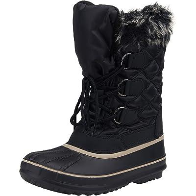 VEPOSE Women's Snow Boots Waterproof Mid Calf Lace Up Warm Winter Booties | Mid-Calf
