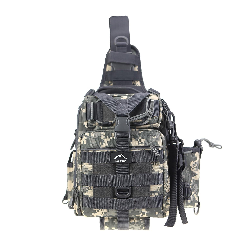 HETTO Tactical Chest Bag Bolso de Hombro Militar MOLLE Bolso de Mano Impermeable y Ligero Bandolera Assault para Acampar Senderismo Ciclismo Viajes al Aire Iibre para Hombres Mujeres