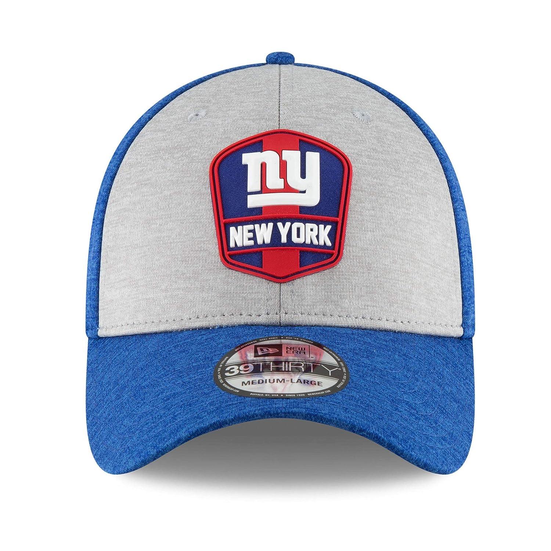 buy popular 69b75 648ee Amazon.com   New York Giants New Era 2018 NFL Sideline Road Official  39THIRTY Flex Hat Heather Gray Royal (Medium Large)   Sports   Outdoors