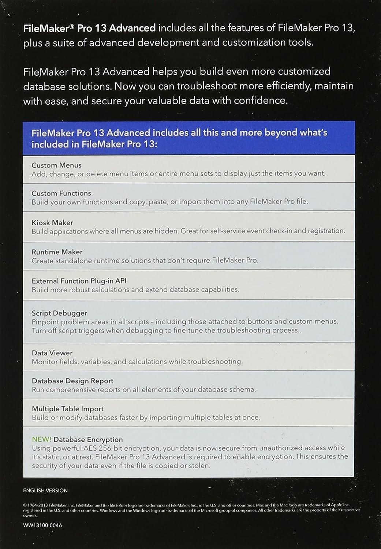 FileMaker Pro 13 Advanced - English