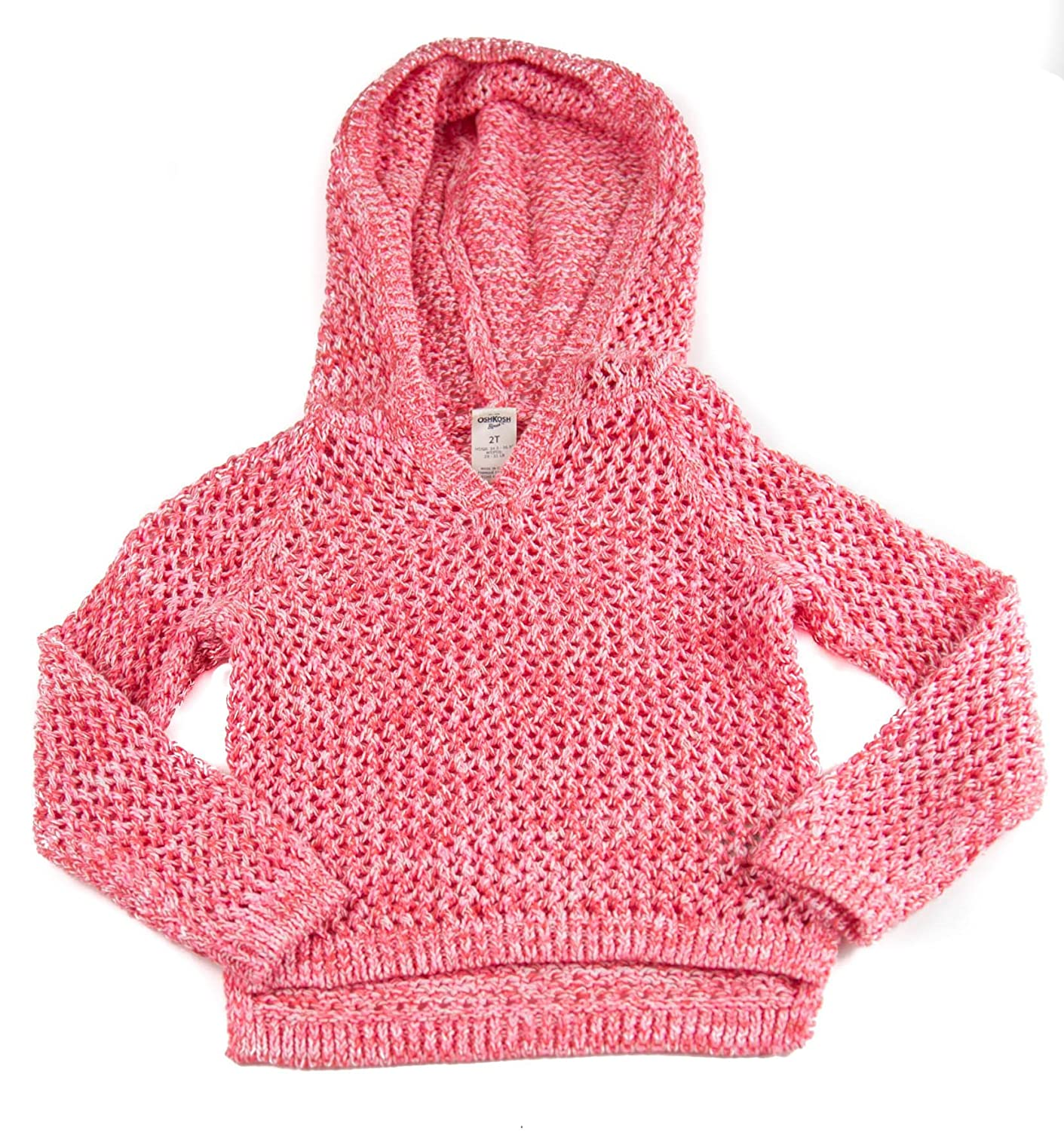 OshKosh BGosh Girls Hooded Sweater Knit Pink 887044869288