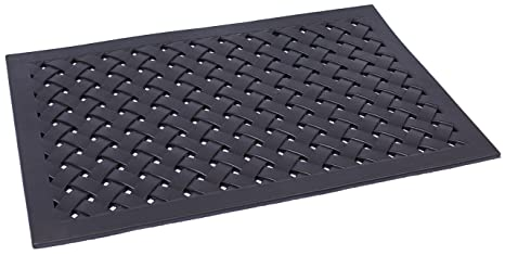 BirdRock Home 24 X 36 Rubber Doormat With Basket Weave Design | Outdoor  Doormat | Keeps