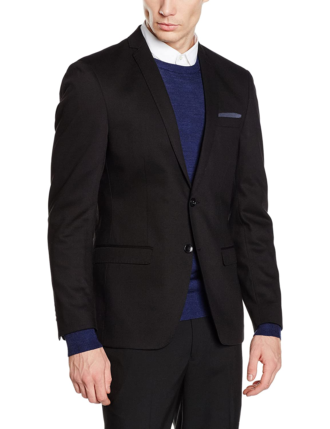 TOM TAILOR Herren Sakkos Solid Structure Suit Jacket