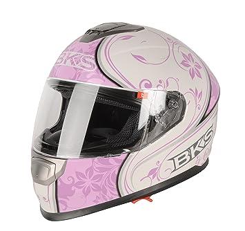 BKS - Casco de moto de carreras para mujeres, diseño de enredadera, J&