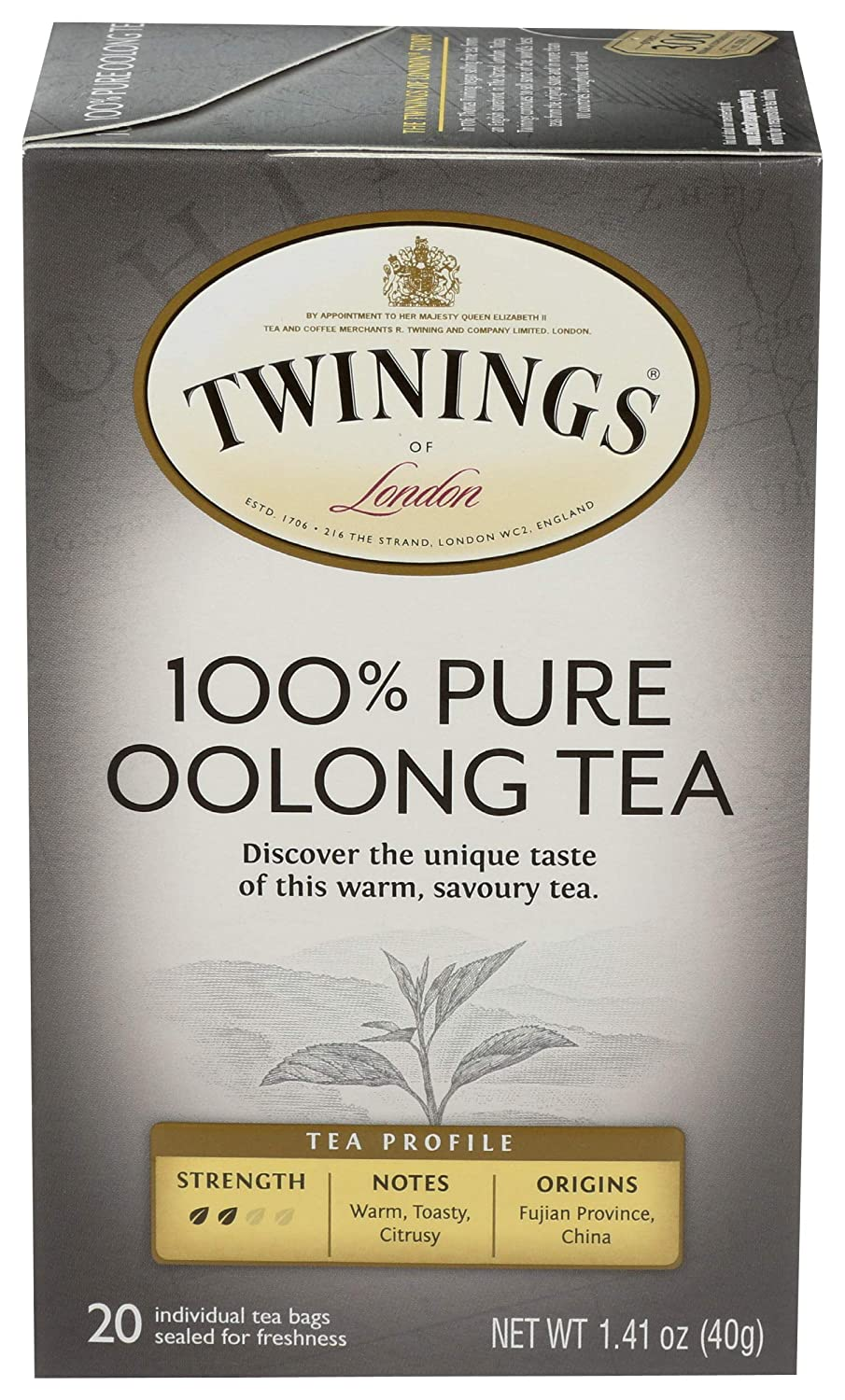 Twinings China Oolong Tea, 20 ct