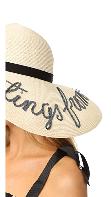 77e51b06 Eugenia Kim Women's Bunny 'Greetings from.' Hat, Ivory, Off White, One Size  at Amazon Women's Clothing store: