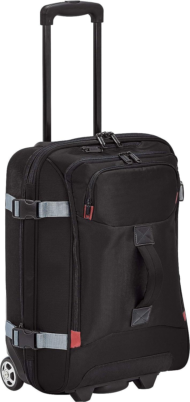 AmazonBasics - Bolsa de viaje con ruedas, pequeña, Negro