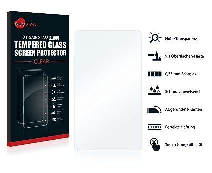 Savvies Protector Pantalla para Relojes (Circular, Diámetro: 38 mm) Cristal Templado -