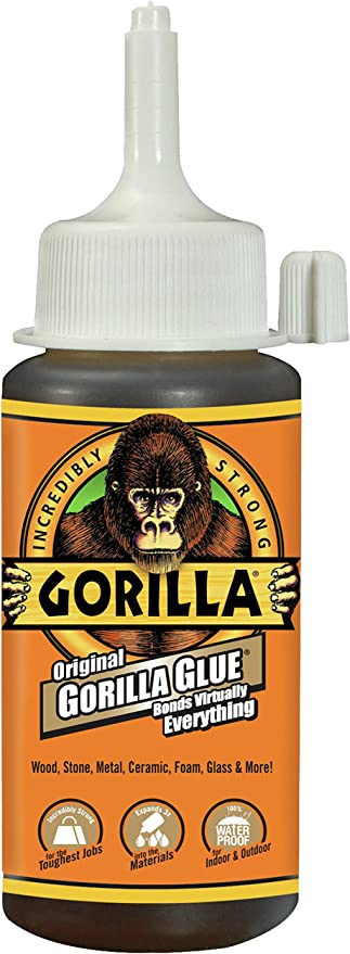Gorilla Glue Review >> Gorilla 5000408 Original Gorilla Glue Waterproof Polyurethane Glue 4 Ounce Bottle Brown