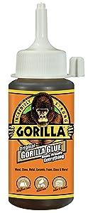 Gorilla 5000408Original Gorilla Glue, Waterproof Polyurethane Glue, 4 ounce Bottle, Brown