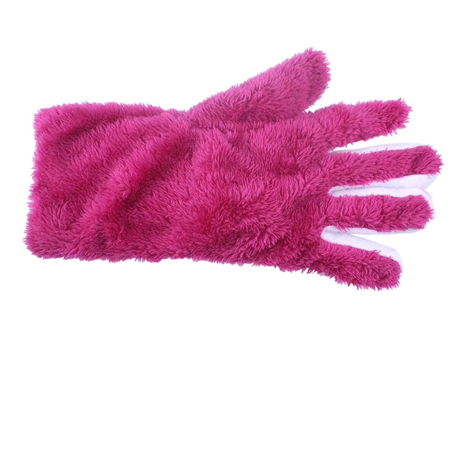 Winter Gloves With Furry Lined for little gilrs 6789 years