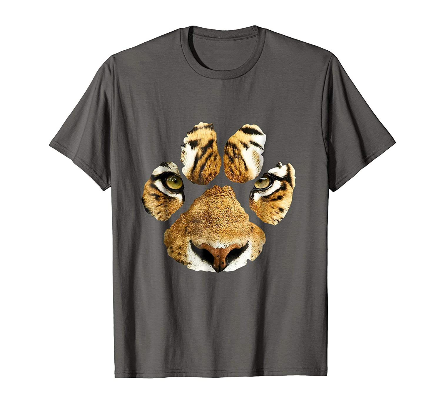 28624a66b Imported Machine wash cold with like colors, dry low heat. Tiger paw shirt  design. Perfect shirt for tiger and big cat lovers. Gorgeous tiger face tee.
