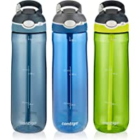 3-Pack Contigo AUTOSPOUT Straw Ashland 24 oz Water Bottle (Stormy Weather/Vibrant Lime/Monaco)