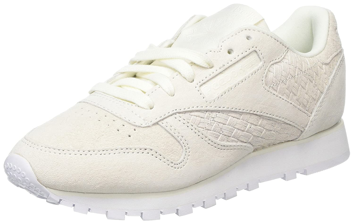 b62bb9fe84394 Reebok Women s Classic Leather Woven Emb Trainers