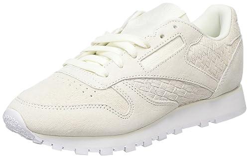 Reebok Classic Leather Woven Emb, Zapatillas para Mujer: Amazon.es: Zapatos y complementos
