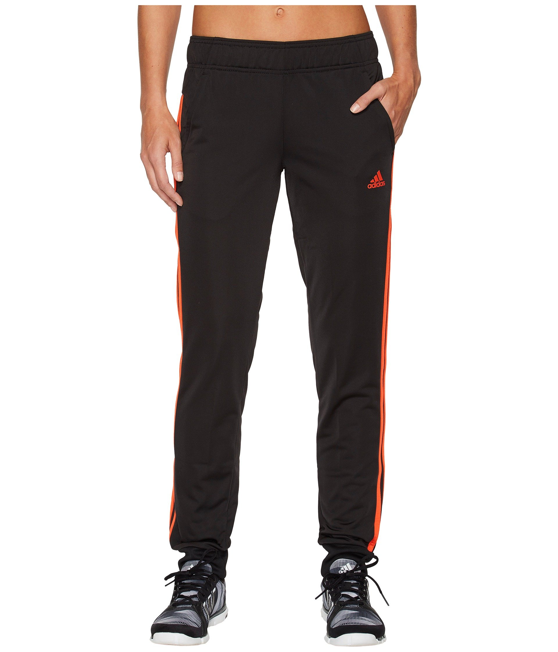 adidas Women's Designed 2 Move Cuff Pants, Black/Energy Pink, Small