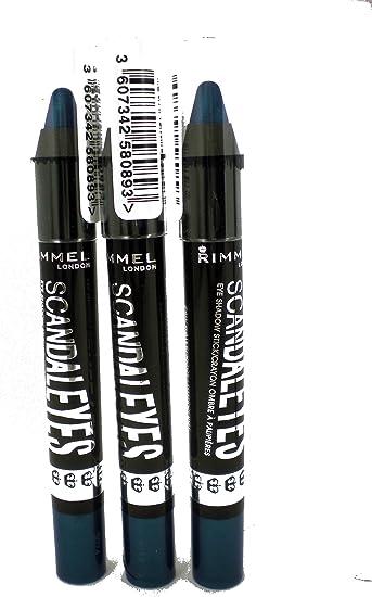 Rimmel London ScandalEyes Sombra de Ojos Stick 009 culpa azul (Pack de 3): Amazon.es: Belleza
